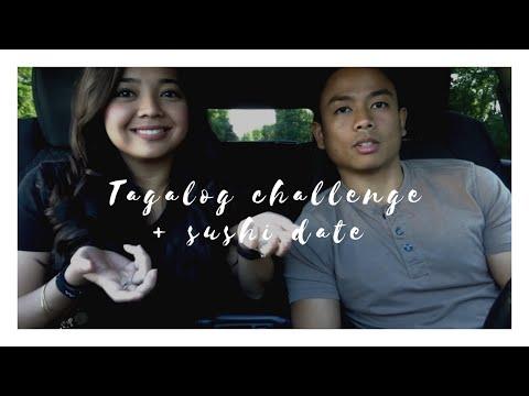 TAGALOG CHALLENGE -- Filipino Ako!    Todd + Aia Vlogs #6