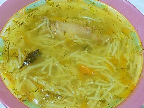 Как сварить вкусный куриный суп с вермишелью