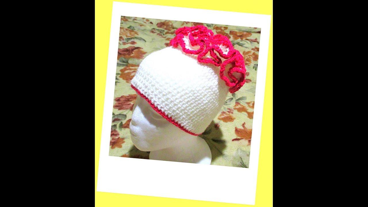 Вязание рюш на шапочках