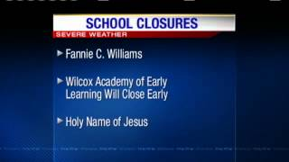 Schools Closed Due To Severe Weather