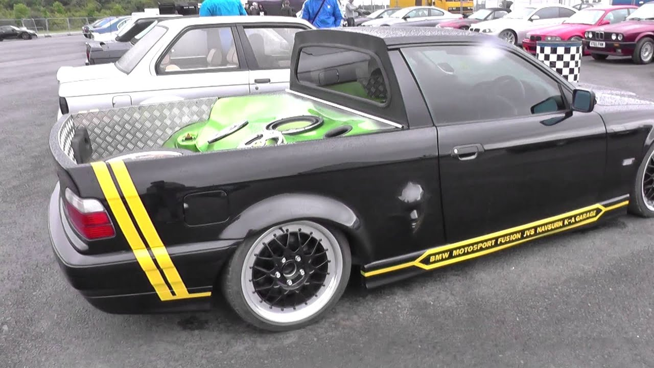 Bmw Pick Up Truck >> BMW E36 Pickup Converted Stunning From BMW Car Show - YouTube
