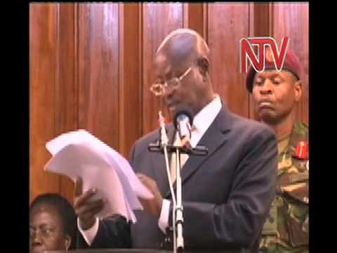 Museveni addresses Parliament.