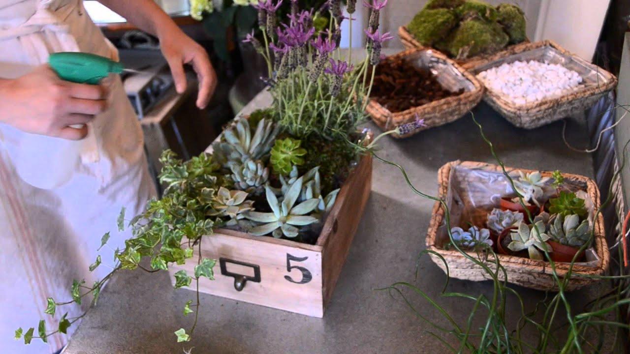 Como hacer una cesta de plantas youtube for Macetas originales para plantas