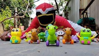 Trò Chơi Đua Xe Thú ❤ ChiChi ToysReview TV ❤ Đồ Chơi Trẻ Em Babys Doli