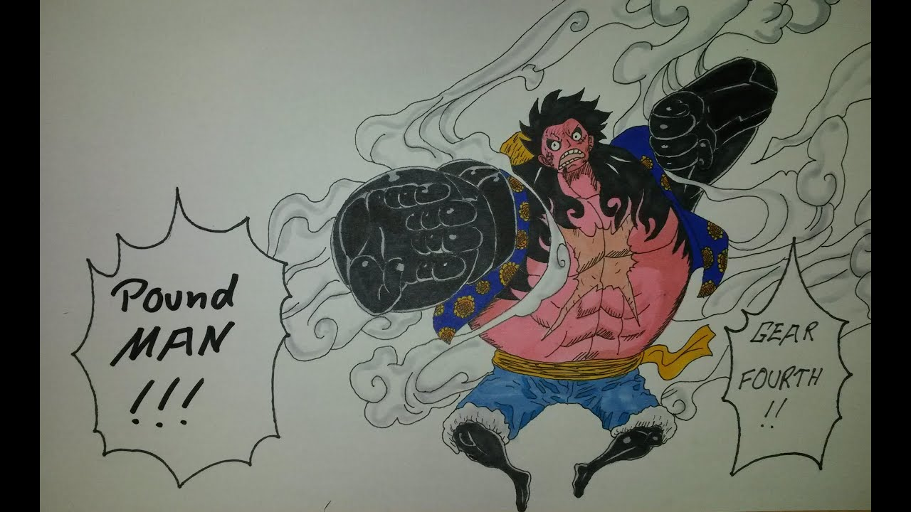 Gear Drawings How to Draw Luffy Gear 4