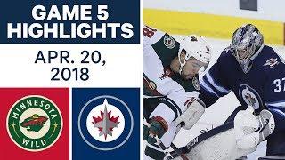 NHL Highlights | Wild vs. Jets, Game 5 - Apr. 20, 2018