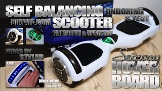 Self Balancing Scooter (Test & Unboxing) Hoverboard with BT Speakers & LEDs // Video by s7yler