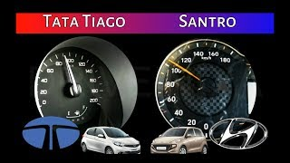 Tata Tiago vs Hyundai Santro | 0-100 Acceleration/Speed test