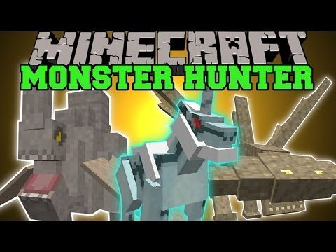 Minecraft: Monster Hunter Frontier (EPIC BOSSES. HUGE WEAPONS. DIMENSION) Mod Showcase
