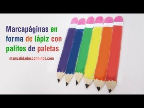 Episodio 636- Cómo hacer marcapáginas en forma de lápiz con palitos de paleta