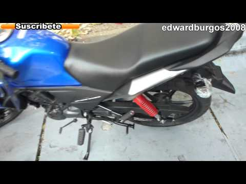 honda cb 110 azul 2013 al 2014 colombia FULL HD