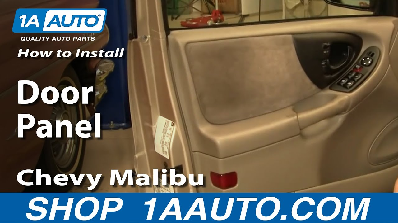 How To Install Replace Door Panel Chevy Malibu 97 03