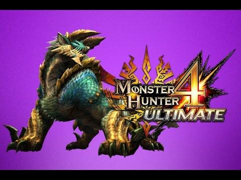 Monster Hunter 4 Ultimate 3DS - Zinogre FRENZIED 5☆ HR5 Multiplayer Online - Charge Blade