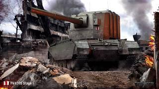 World of Tanks FV4005 — Топовые выстрелы. Ваншоты.