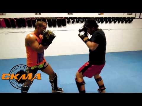 Sep and Gyula kickboxing sparring Image 1