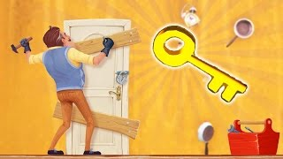 Hidden Room, Finding Gold Key And Melting Ice Cube?! - Hello Neighbor Alpha 4 Gameplay Secrets