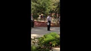 Crazy Preacher on College Campus!