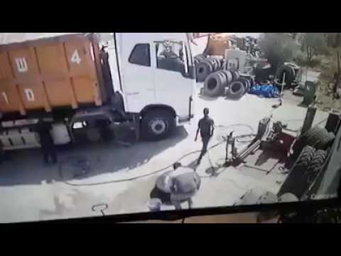 Смерть на шиномонтаже!!! Взрыв колеса!