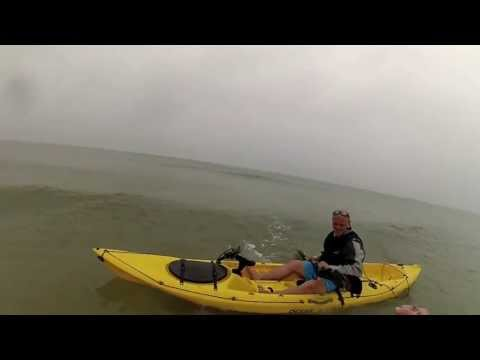 GoPro Hero 3 HD: Shark Fishing On Beach Running Bait In kayak