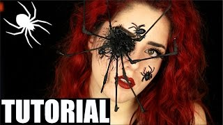 Spinne HALLOWEEN MAKE UP tutorial deutsch I Luisacrashion