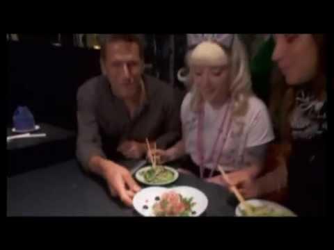 Food Network World's Weirdest Restaurants, Tokyo Japan. Alice in Wonderland theme restaurant