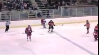 High School Hockey Incredible massive huge check - Lincoln vs West Salem - Semifinal 2014