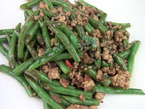 Spicy Green Beans With Ground Turkey Stir-Fry