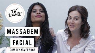 Dicas de massagem facial com Renata França - TV Beauté   Vic Ceridono