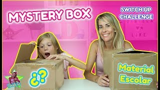 MYSTERY BOX OF BACK TO SCHOOL SWITCH UP CHALLENGE!! CAMBIO CAJAS MISTERIOSAS CON ÚTILES ESCOLARES