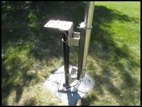 DX Engineering Vertical 8040VA-1 Part 3, Installing the Mast and Base Assembly