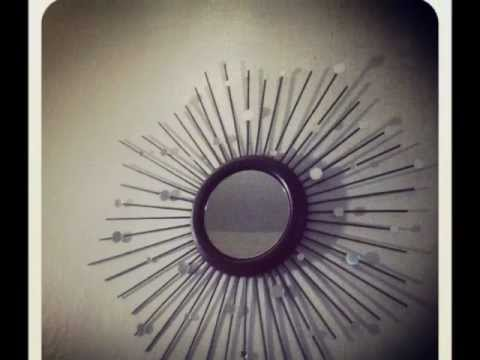 Como decorar un espejo youtube for Decorar pared con espejos redondos