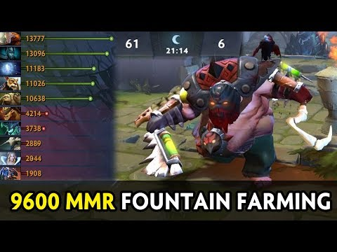 9600 MMR Pudge fountain farming — 60 kills in 20 min