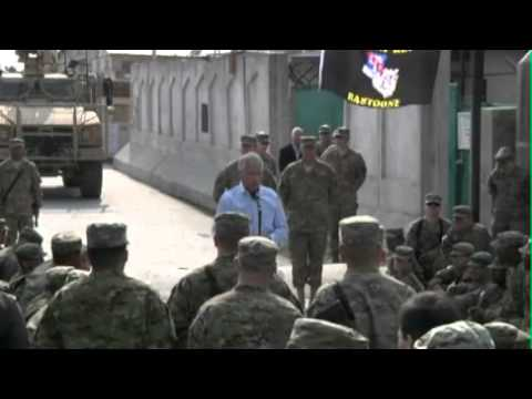 Secretary Of Defense Hagel Speaks To Troops In Afghanistan