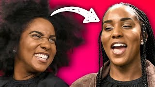 Learning to do Braids & Cornrows on Natural Hair (Beauty Trippin)