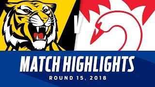 Richmond v Sydney Highlights | Round 15, 2018 | AFL