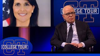 Michael Wolff on the suggestion of Trump having an affair - College Tour