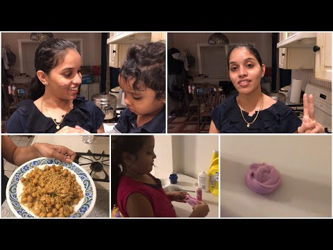 #DIML/MY TWO WISHES FOR 2019/HEALTHY CHOLE CHAT/FUN ACTIVITY FOR KIDS/MOKSHA MAKING SLIME