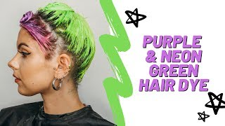 PURPLE & LIME GREEN HAIR DYE