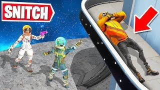 Playing SNITCH HIDE & SEEK in SPACE! (Fortnite Creative)