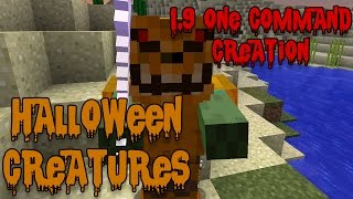HALLOWEEN CREATURES: 1.9 One Command Block Creation: Minecraft