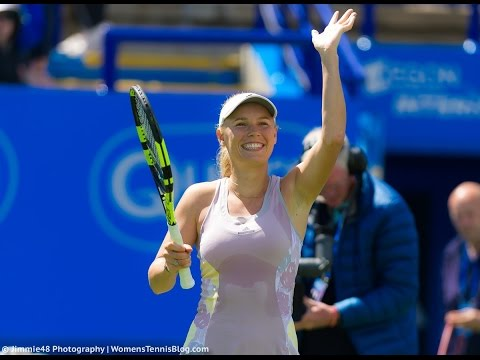 2016 Aegon International Second Round   Caroline Wozniacki vs Sam Stosur   WTA Highlights