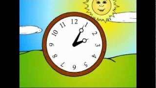 Lesson 9: Time of Day & 1st Person Daily Actions GRAMMAR CARTOON- Kids English by Pumkin.com