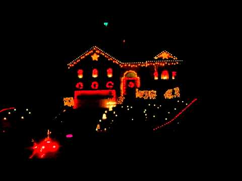 Heavy Metal Christmas light show