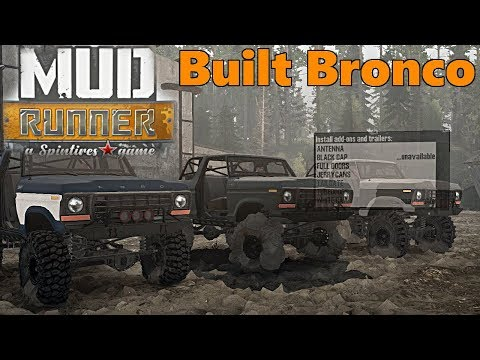 SpinTires Mud Runner: NEW MOD Review. Spun's Ford Bronco