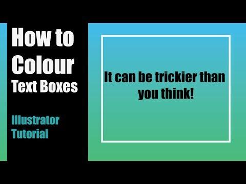 How to Colour Text Boxes - Adobe Illustrator Tutorial