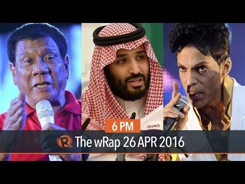 Duterte's lead, Saudi Arabia's Vision 2030, Prince | 6PM wRap