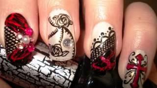 Gothic nail art maiking ideas