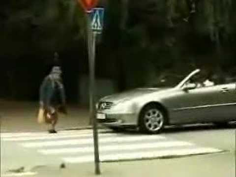 Guy in a Mercedes gets humiliated by an old woman thumbnail