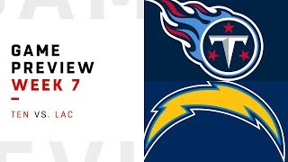 Tennessee Titans vs. Los Angeles Chargers | Week 7 Game Preview | NFL Film Review