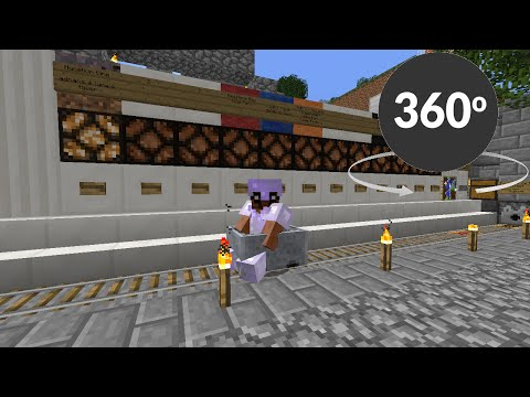360 Degree Minecraft Amplified Train Ride - Blue Line